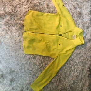 Bright zip up blouse